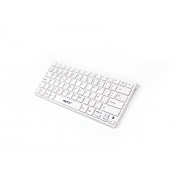Teclado Bluetooth para PC/ iPad/ iPhone (Blanco)
